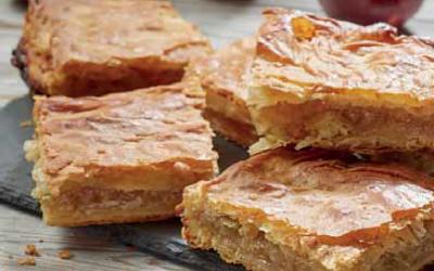 μηλοπιτα με ΣΠΙΤΙΚΗ σφολιατα απο βουτυρο γαλακτοσ